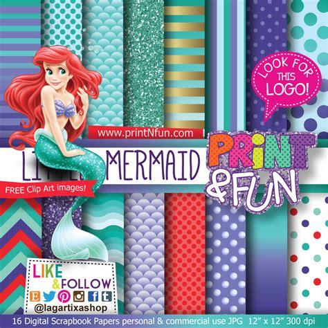 Mermaid Themed Invitations 365 Days Of Crafts - the mermaid digital paper patterns