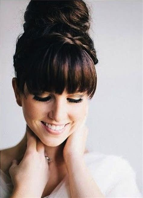 Wedding Hairstyles For Medium Hair With Bangs by 87 Best Bangs Images On Hairstyles With Bangs