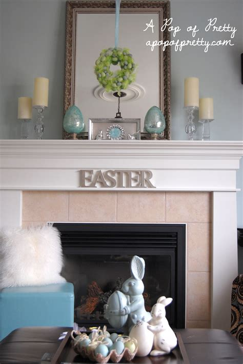 Decorating Ideas For Mantels Easter Mantel Ideas A Pop Of Pretty Canadian Home