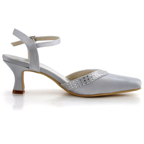 Satin Pumps Wedding by Ep11033 Square Toe Chunky Mid Heel Pumps Slingbacks Satin