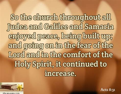 comfort of the holy spirit so the church throughout all judea and galilee and samaria