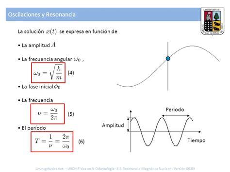 oscilacion fisica formulas 3 3 resonancia magn 233 tica nuclear formulas ejercicios