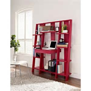 Desks With Bookshelves Altra Furniture Ladder 10 Open Shelf Bookcase With Desk In