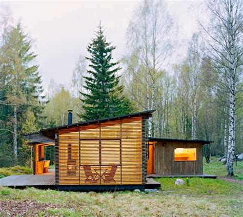 small modern cabins small summer house trosa