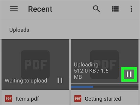 google images upload android how to pause a google drive upload on android 8 steps