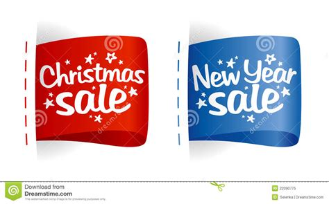 new year sales song new year and sale labels stock vector image