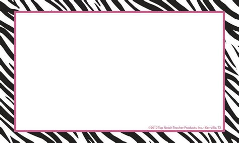 What To Do With Borders Gift Card - border index cards 3 x 5 zebra blank top3652