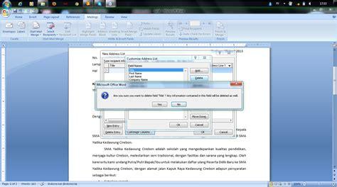 langkah langkah membuat mail merge untuk label langkah langkah membuat mail merge dengan menggunakan