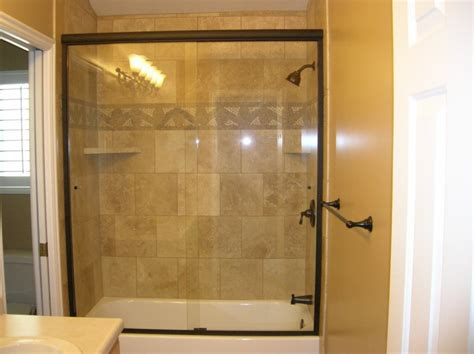 Glass Door Tub Large Sliding Glass Door Combined With Silver Steel Towel Handler Plus White Tub On The White