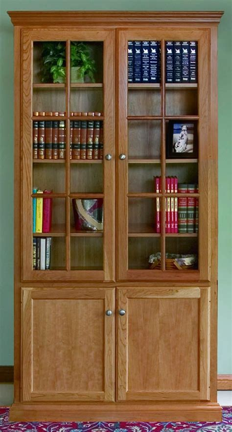 bookshelves doors custom woodcraft bookcase options