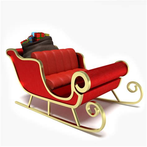 3d model santa s sleigh 3d model 3d modeling