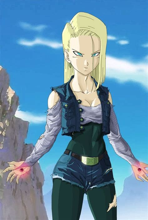 anime android android 18 ready to fight by novasayajingoku 4th favorite anime