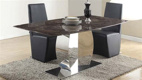 marble and stainless steel dining table syrah marble and stainless steel dining table zuri furniture