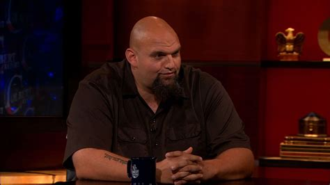 john fetterman tattoos fetterman the colbert report clip comedy