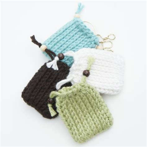 Drawstring Gift Bags Tunisian Crochet Pattern Knitting