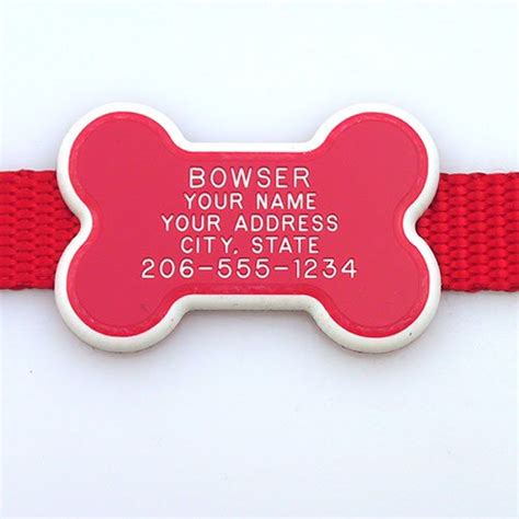 collar tags collar tag bone shape pet id tag our custom engraved cat pet tags are