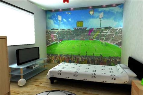soccer murals for bedrooms funny murals to design the kids rooms with soccer stadium