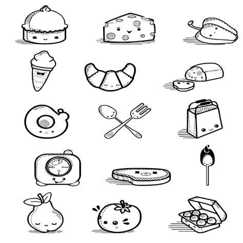 imagenes de comidas navideñas para niños dibujos de alimentos para imprimir y colorear