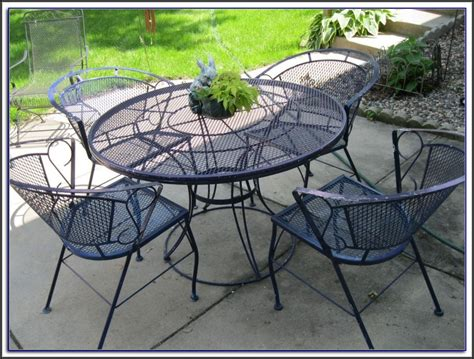 white outdoor wrought iron patio furniture patios home