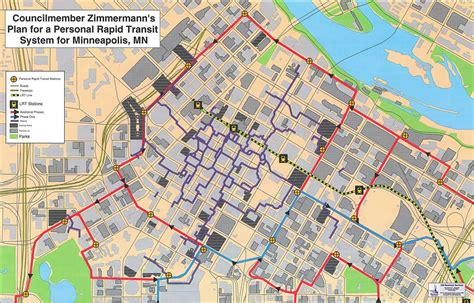 walking minneapolis downtown minneapolis personal rapid transit network concept prepared by former