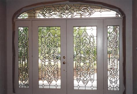 Entry Doors Beaumont Leaded Glass Beveled Glass Door