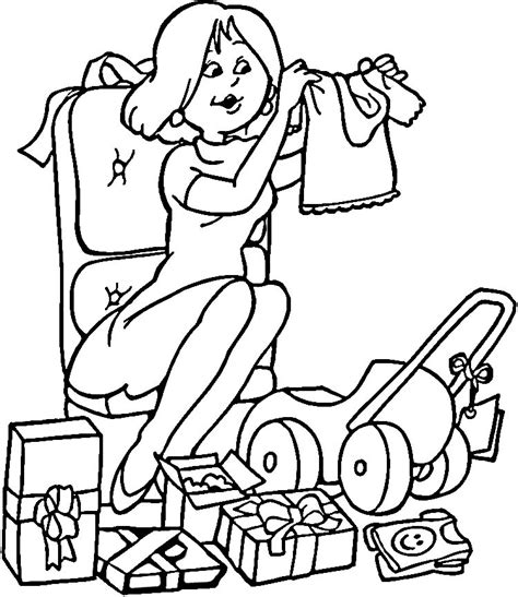 free coloring pages of baby clothing