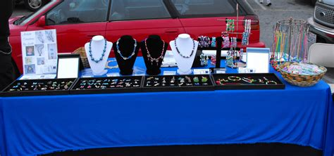 Handmade Items That Sell At Flea Markets - my jewelry table setup at the flea market jewelry