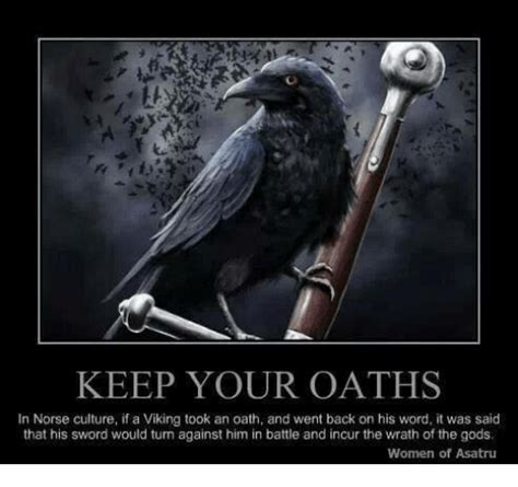 keep your oaths in norse culture if a viking took an oath