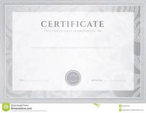 silver certificate diploma template award patter stock