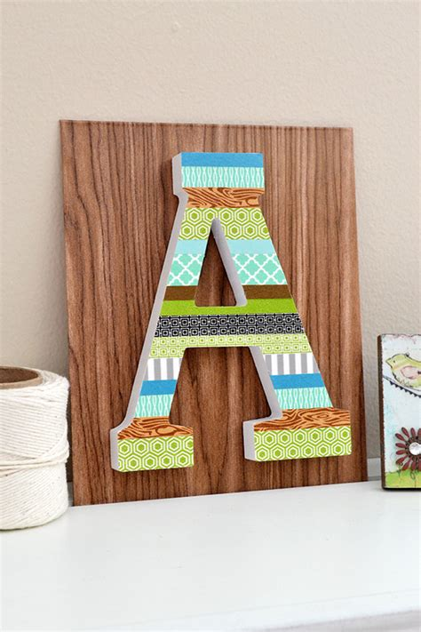 washi tape home decor washi tape letter decor we r memory keepers blog