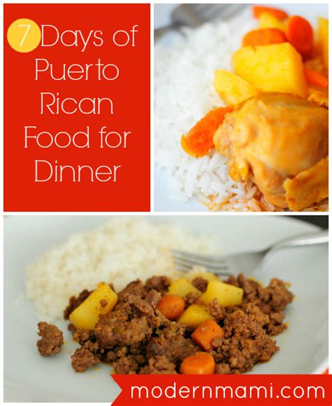 printable puerto rican recipes sle meal plan for a week full of puerto rican food