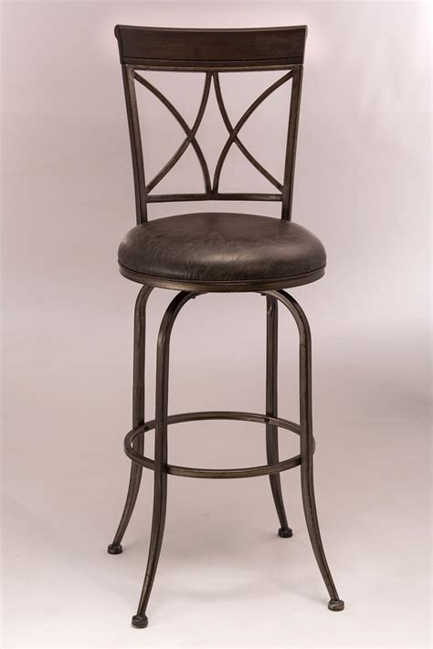 pewter bar stools hillsdale killona swivel bar stool antique pewter 5772