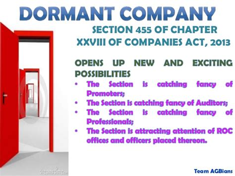 Section 76 Of The Companies Act by Dormant Company