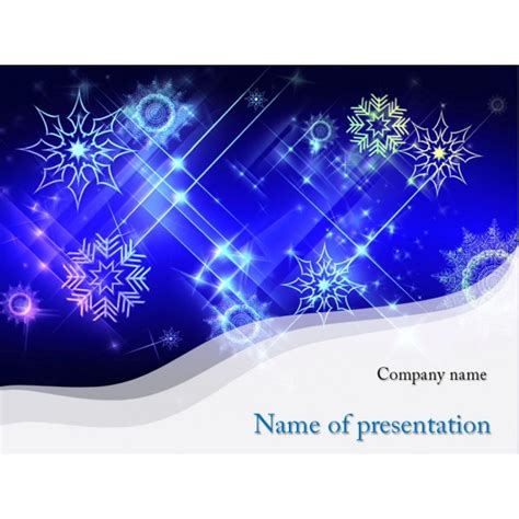 Snow Powerpoint Template Background For Presentation Free Snowflake Powerpoint Template