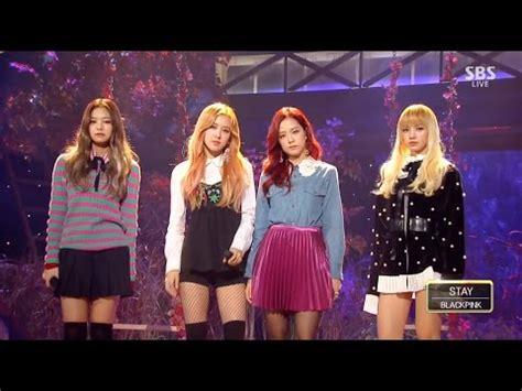 blackpink inkigayo blackpink stay 1106 sbs inkigayo youtube