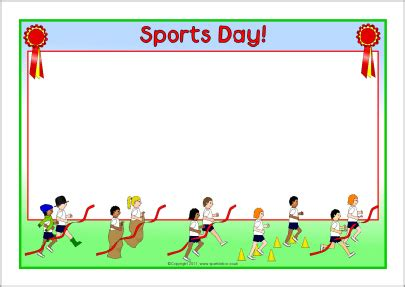 lined paper with sports border sports day a4 page borders thema sport allerlei pinterest