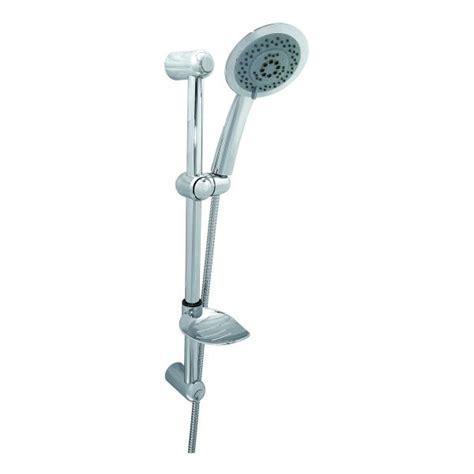 sali scendi doccia saliscendi doccia cromato con doccetta grande a soffione slim