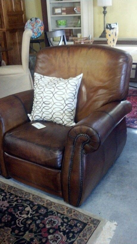 Leather Studded Recliner by Studded Leather Recliners Lowcountry Consignments New