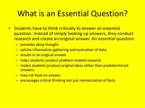 essential question lesson plan template how to write essential questions for lesson plans home