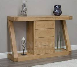 Tables For Hallway Zaria Solid Oak Designer Furniture Console Hallway Table With Drawers Ebay