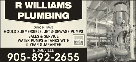 Robert Williams Plumbing robert williams plumbing heating limited 330 dr