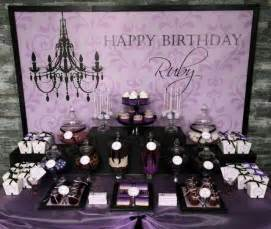 Purple dessert table candy and confection displays pinterest