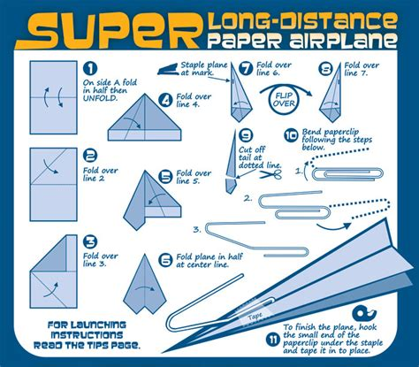 How To Make Best Paper Airplane For Distance - paper airplanes infographics