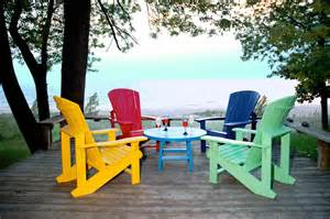 colorful wooden chairs summer paint stain project the muskoka chair color