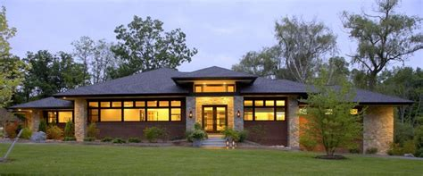 prairie style home contemporary exterior detroit