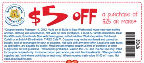 Do Build A Bear Gift Cards Expire - build a bear printable coupons 5 25 10 40 mommies with cents