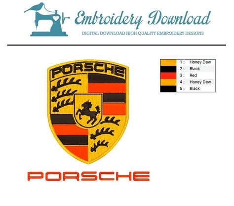 Porsche Logo Download by Porsche Logo And Letters Embroidery Design