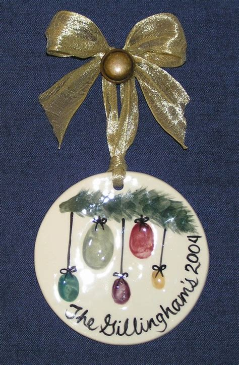thumbprint family ornament