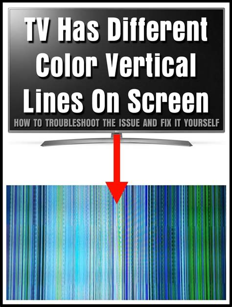 what color are stop lines tv has different color vertical lines on screen how to