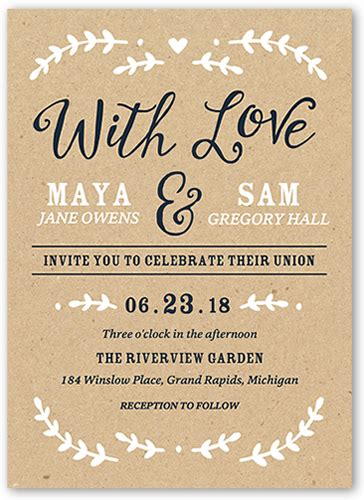 Wedding Card Stationery by Forever Begins With You 5x7 Wedding Invitations Shutterfly